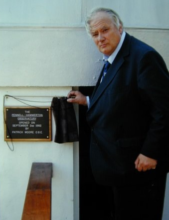 Patric Moore opening Lincoln Astronomical Socirty Observatory in 1982