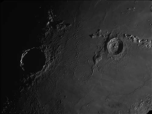 Crater Copernicus and Erastophenes taken by Phil Norton of Lincoln Astronomical Society