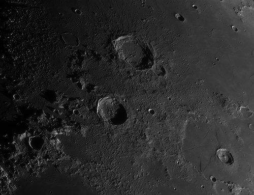Crator Eudoxus taken by Phil Norton of Lincoln Astronomical Society