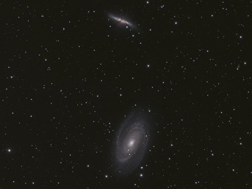 M81 M82 by Mick Hunt of Lincoln Astronomical Society