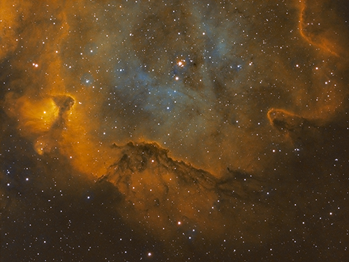 IC 1848 detail by Mick Hunt of Lincoln Astronomical Society