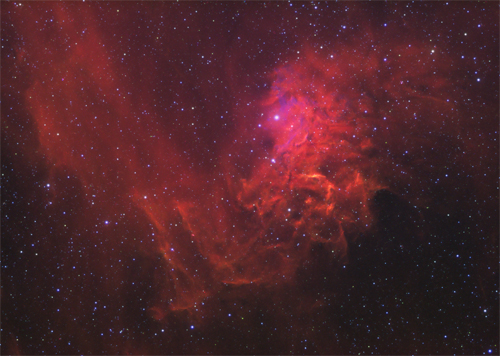 IC405 The Flaming Star Nebula by Mick Hunt of Lincoln Astronomical Society