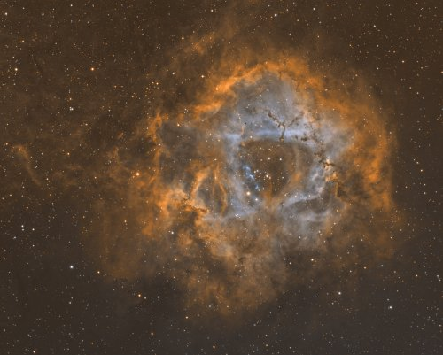 Rosette Nebula by Mick Hunt of Lincoln Astronomical Society