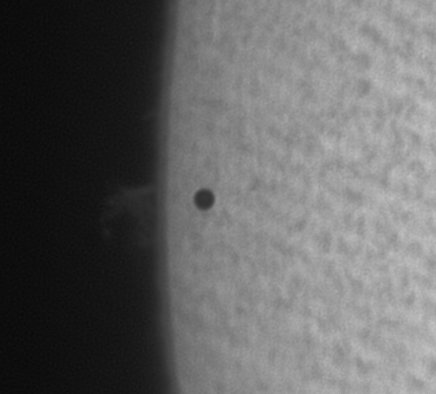 Transit of Mercury with a HA scope